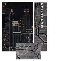 Mohawk Home Aurora New York City 3 Piece Set (Set Contains Runner, Scatter and 5' x 8') - 5' x  8'