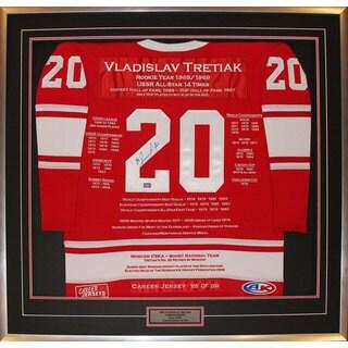 Vladislav Tretiak Framed Career Jersey