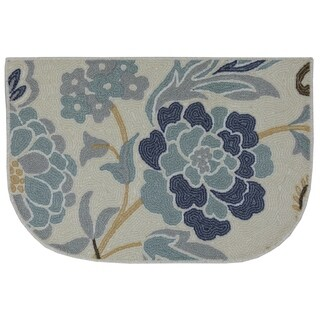 Mohawk Home Soho Power Flower Sky Blue (1'8 x 2'6 Slice) - 1'8 x 2'6