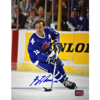Guy Lafleur Signed 8X10 Photograph - Quebec Nordiques (Blue)