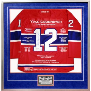 Yvan Cournoyer Framed Career Jersey