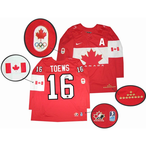 Shop Team Canada 2014 Autographed Jonathan Toews Red Jersey - Ships ... 8e3cec7cb