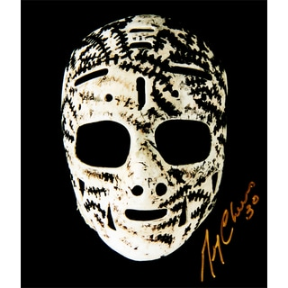 Gerry Cheevers The Mask Autographed 8X10 Photograph - Boston Bruins
