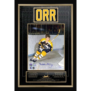 Bobby Orr Signed Career Collectible - Museum Framed - Ltd Ed of #4 of 144