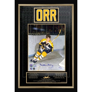 Bobby Orr Signed Career Collectible - Museum Framed - Ltd Ed of #44 of 144