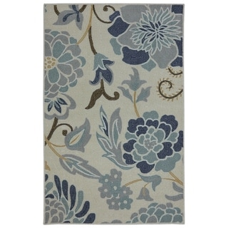 Mohawk Home Soho Power Flower Sky Blue (2'6 x 4')