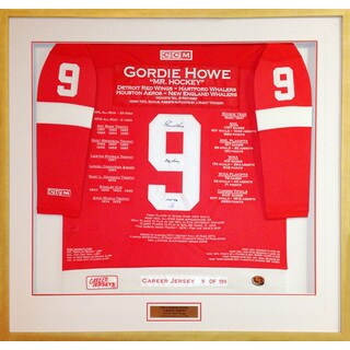 Gordie Howe Career Jersey #9 of 199
