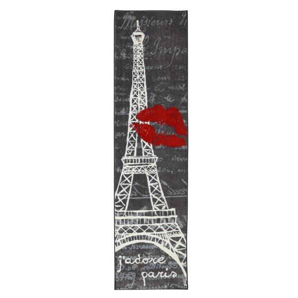 Mohawk Home Aurora Paris Love Eiffel Tower Urban (2' x 8')