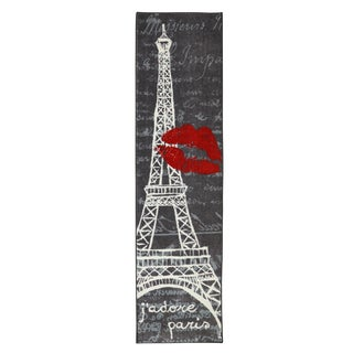 Mohawk Home Aurora Paris Love Eiffel Tower Urban (2' x 8')