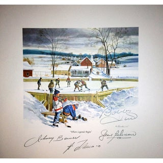 Where Legends Begin Lithograph - Signed by Bower, Hull, Lafleur and Beliveau
