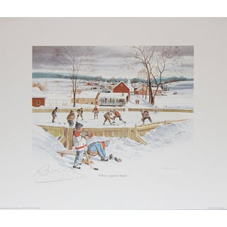 Where Legends Begin Lithograph - Autographed by Bobby Hull
