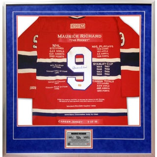 Maurice Richard Career Jersey #9 of 99