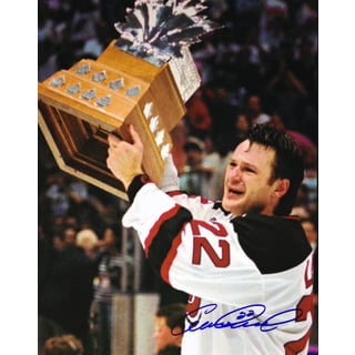 Claude Lemieux Signed 8X10 Photograph - Montreal Canadiens (Trophy)