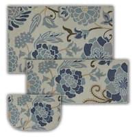 "Mohawk Home Soho Power Flower Sky Blue (Set Contains: 20 x 45 30 x 48 and 20 x 30 Slice) - 2' 6"" x  4'"