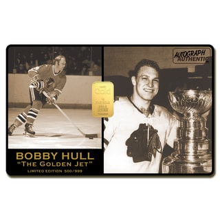 Bobby Hull Limited Edition 24-karat gold Bar