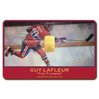 Guy Lafleur Limited Edition 24-karat gold Bar