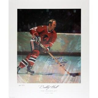 The Golden Jet Signed Lithograph Ltd. Ed. - Bobby Hull - Chicago Blackhawks