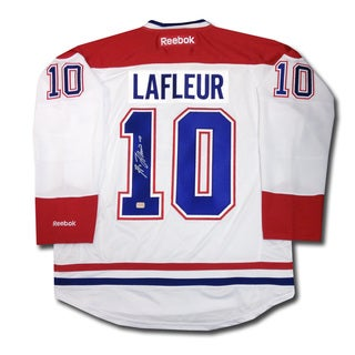 Guy Lafleur Autographed White Montreal Canadiens Jersey