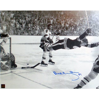 Bobby Orr 'The Goal' Autographed 11x14 Photograph - Boston Bruins