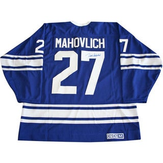 Frank Mahovlich Autographed Blue Toronto Maple Leafs Jersey