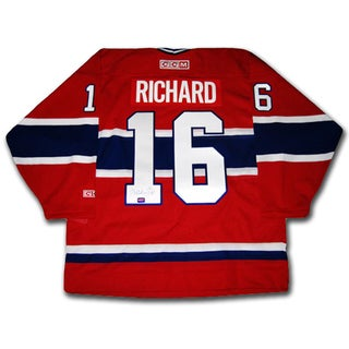 Henri Richard Autographed Red Montreal Canadiens Jersey