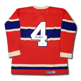 Jean Beliveau Autographed Wool Montreal Canadiens Jersey
