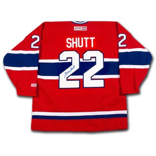 Steve Shutt Autographed Red Montreal Canadiens Jersey
