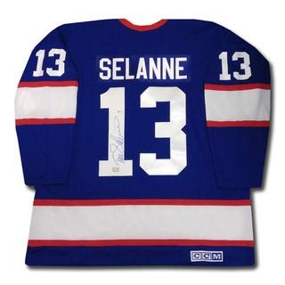 Teemu Selanne Autographed Winnipeg Jets (Dark)