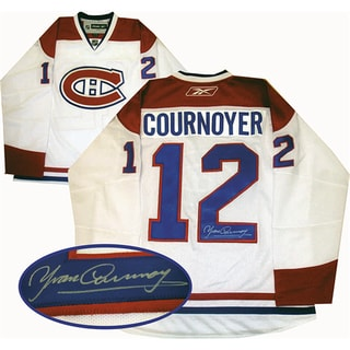 Yvan Counoyer Autographed White Montreal Canadiens Jersey