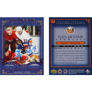 Bryan Trottier Autograped Card - New York Islanders (White)