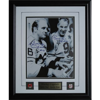 Autographed Bobby Hull and Gordie Howe