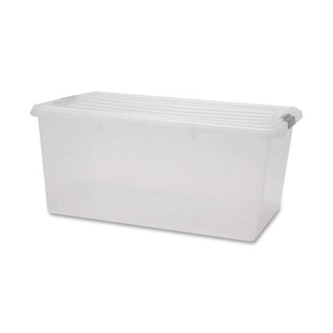 IRIS 68 Quart Buckle Down Storage Box, Clear