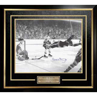Bobby Orr 'The Goal' Signed 16x20 Framed Photo - Boston Bruins