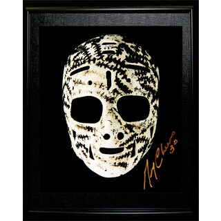 Gerry Cheevers The Mask Autographed Framed 8X10 Photograph - Boston Bruins -