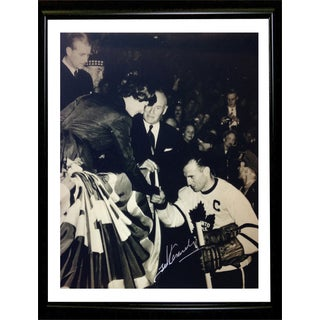Ted Kennedy meets the Queen Autographed Framed Photo - TML