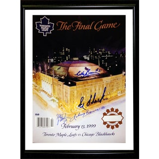 TML Autographed Final Game at The Gardens Magazine Cover - Framed