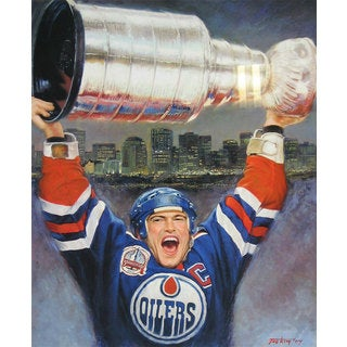 Mark Messier Lithograph - Edmonton Oilers