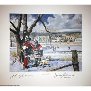 Let's Ask Lithograph - Autographed by Johnny Bower and Jean Beliveau