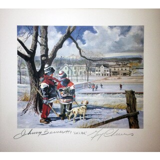 Let's Ask Lithograph - Autographed by Johnny Bower and Gerry Cheevers