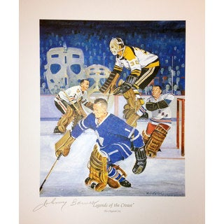 Legends Of The Crease Signed Lithograph - Bower