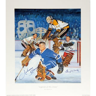 Legends Of The Crease Autographed Lithograph