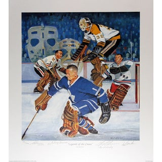 Legends Of The Crease Autographed Limited Edition Lithograph