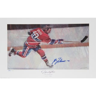 Guy Lafleur Autographed Limited Edition Lithograph - Montreal Canadiens