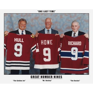 The Three Great Nines - Maurice Richard, Gordi Howe and Bobby Hull