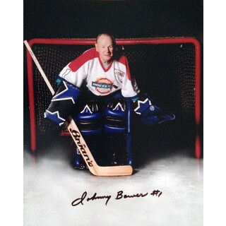 Johnny Bower Signed 8X10 Photo - Toronto Maple Leafs - OldTimers