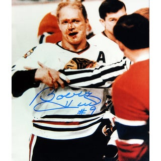 Bobby Hull Autographed 8X10 Photograph - Chicago Blackhawks (Bloody)