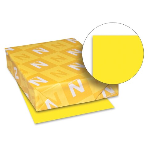 Wausau Paper 65lb. Sun Yellow Card Stock - 1 Pack