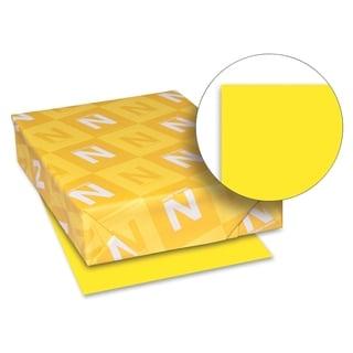 Wausau Paper 65lb. Sun Yellow Card Stock - 1 Pack