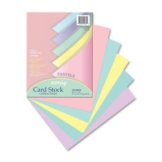 Pacon Array 65lb. Printable Assorted Colors Cardstock - 1 Pack