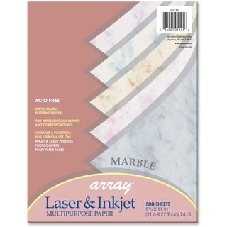 Array 24lb. Assorted Marble Colors Bond Paper - 1 Ream